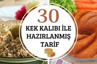 Kek Kalıbında Hazırlanmış Tatlı Tuzlu 30 Tarif Tarifi
