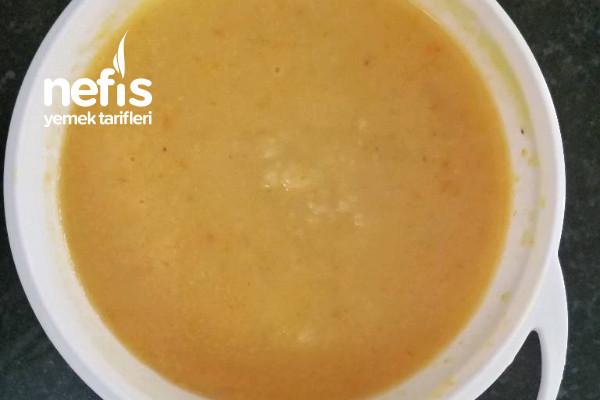 Bulgurlu Mercimek Çorbası +8 Ay Tarifi
