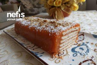 Havuç Püreli Bisküvili Baton Pasta,(Az Malzeme Bol Lezzet) Tarifi