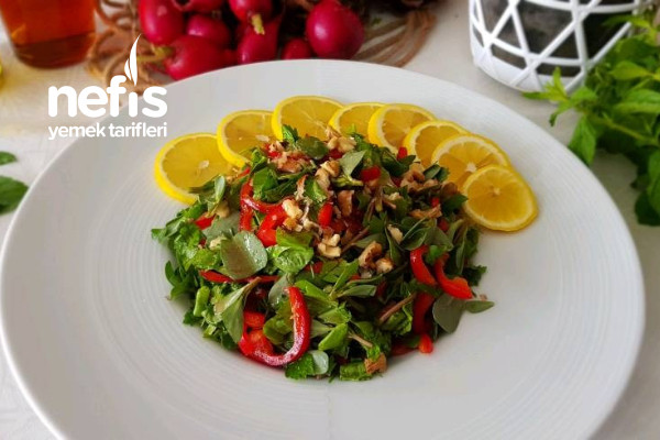 Cevizli Semizotu Salatası (Videolu)