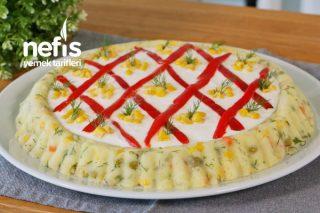 Garnitürlü Yoğurtlu Patates Salatası (videolu) Tarifi