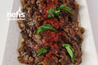 Közlenmiş Patlıcan Salatası,Az Malzemeli Çok Lezzetli Tarifi