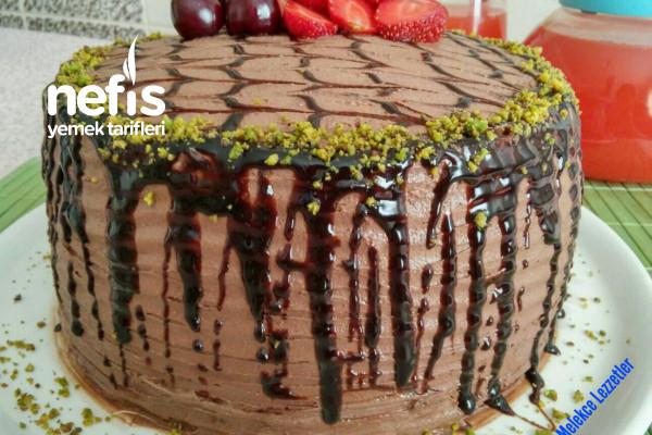 Pratik Çikolatalı Meyveli Doğum Günü Pastası (Hazır Pandispanyalı) Tarifi