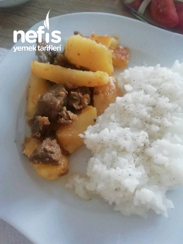 Tavada Etli Patates (Et Sevenler Bayılacak)