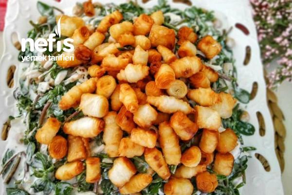 Yufka Kızartmalı Semizotu Salatası Tarifi