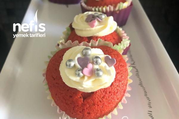 Red Velvet Cupcake Nam-ı Diğer Kırmızı Kadife Cupcake Tarifi