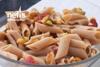 Diyet Tam Buğday Unundan Makarna Salatası Tarifi