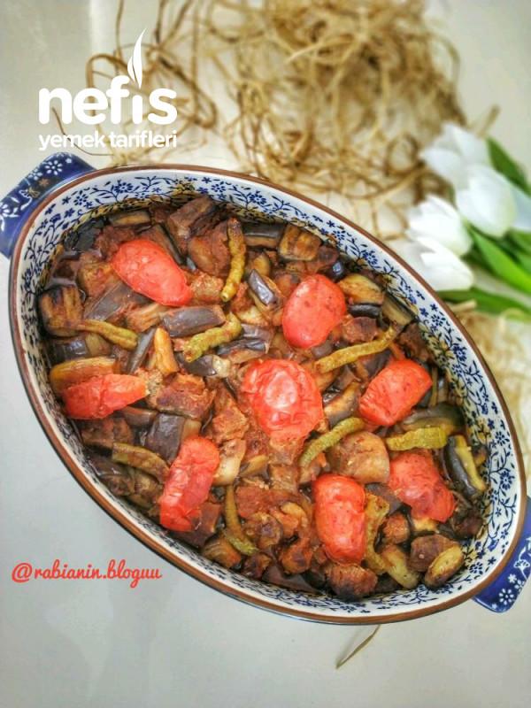 Fırında Etli Patlıcan