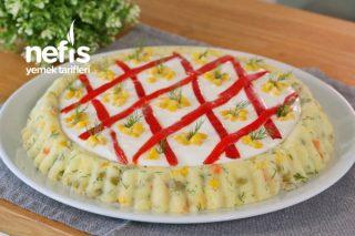Şık Sunumuyla Garnitürlü Patates Salatası (videolu) Tarifi