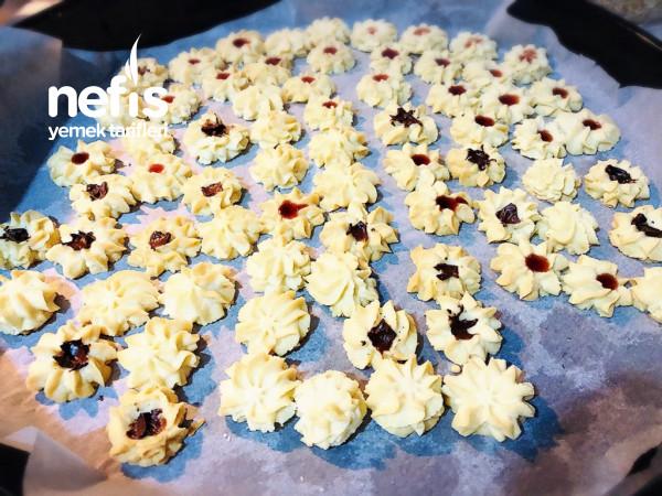 Lokmalık Pastane Kurabiyesi (1 Tarifle 2 Tepsi Her Çeşit)