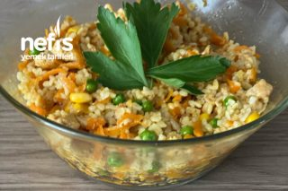 Tavuklu Bulgur Pilavı Salatası Tarifi