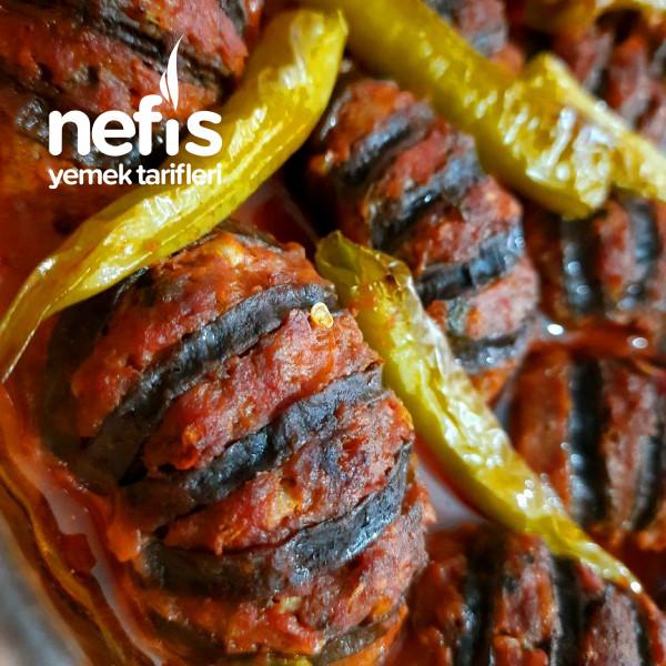 Patlıcanlı Yelpaze Kebabı (Çok Pratik Ve Lezzetli)