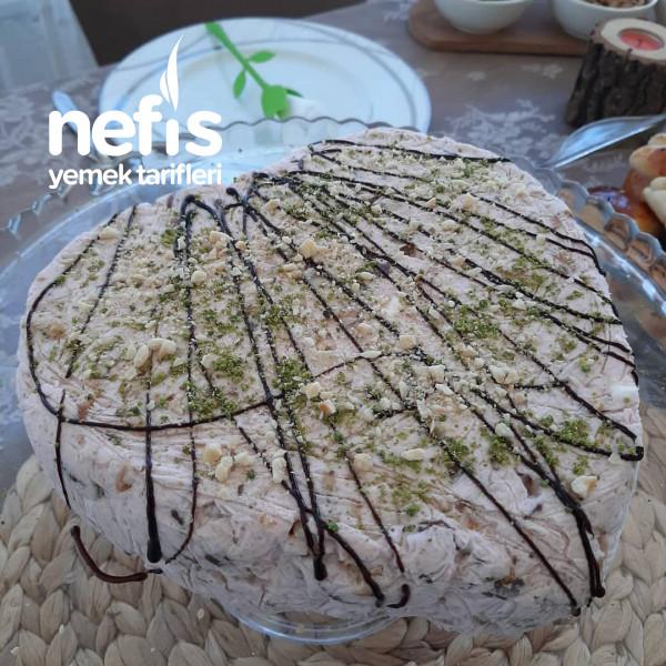 Meyveli Halleyli Soğuk Pasta