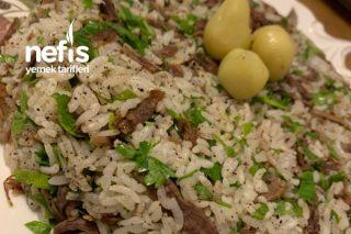Etli Maydanozlu Pirinç Pilavı Tarifi