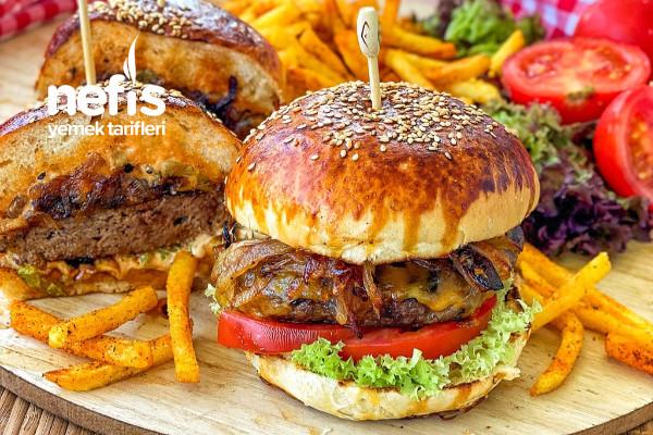 Ev Yapımı Gurme Hamburger (Ekmek,köfte Tarifiyle)