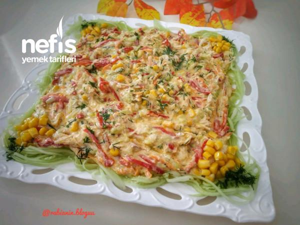 Tavuklu Kabak Salatasi