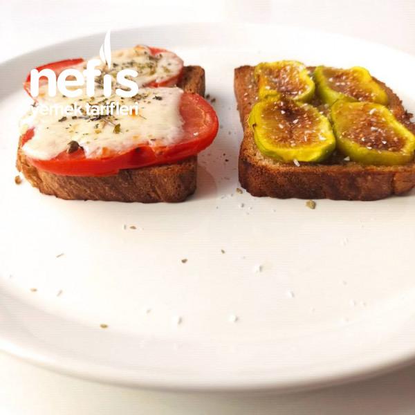 Bruschetta (Ekmek Üstü) (İncirli/domatesli)
