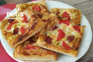 Kahvaltıya Kolay Milföy Pizza Tarifi