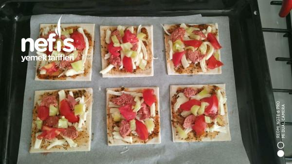 Kahvaltıya Kolay Milföy Pizza