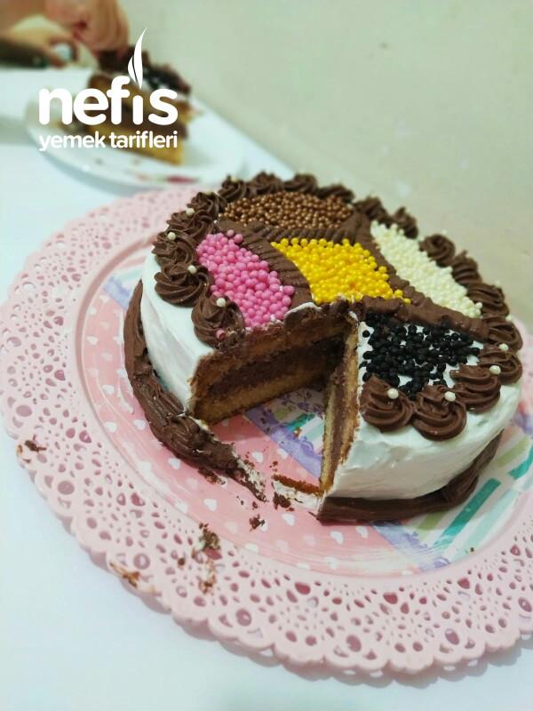 Renkli Yaş Pasta