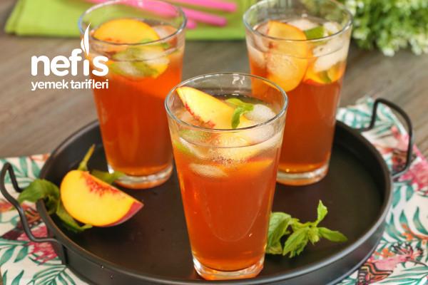 Ev Yapımı Soğuk Çay | Şeftalili Ice Tea (videolu) Tarifi