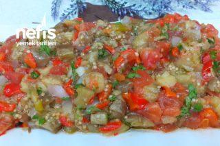 Köz Patlıcan Salatası Efsane Bir Lezzet (Videolu) Tarifi