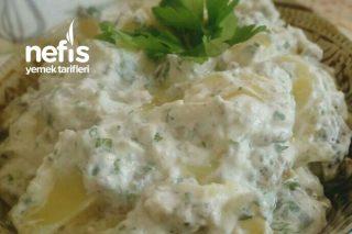 Köz Patlıcanlı Patates Salatası Tarifi