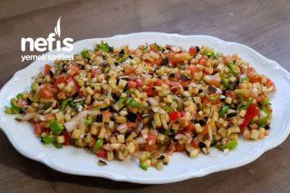 Çiğ Patlıcan Salatası Tarifi