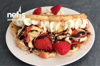 Fenomen Olmuş Dondurmalı Waffle Tarifi (Videolu)
