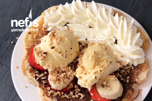 Fenomen Olmus Dondurmali Waffle Tarifi (Videolu)