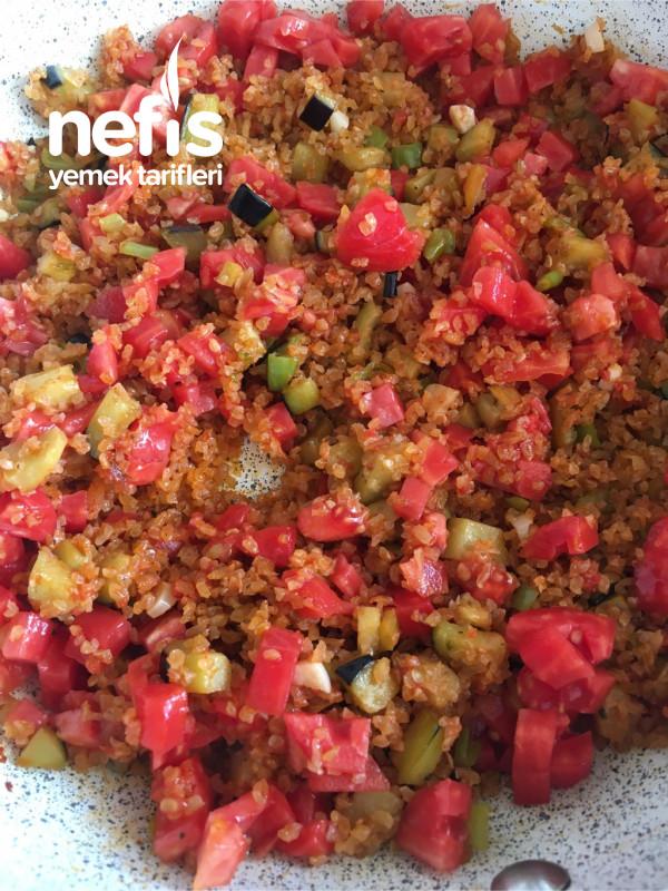 Patlıcanlı Meyhane Pilavı