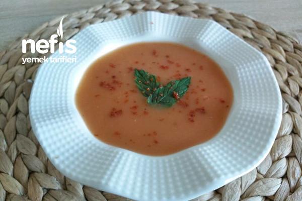 Közlenmiş Domates Çorbası /Krema Yada Süt Gerektirmeyen Çorba Tarifi (Videolu)