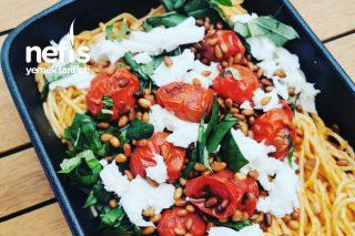 Domates ve Mozzarellalı Spaghetti Tarifi