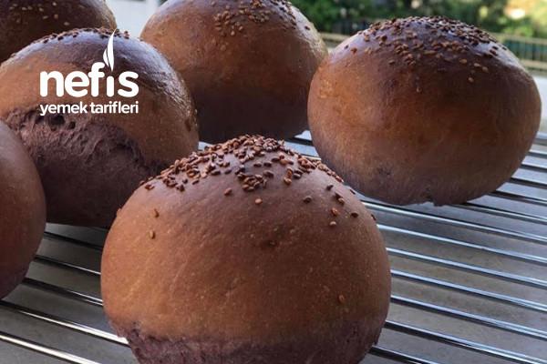 Pratik Hazırlanan Ev Yapımı Mor Hamburger Ekmeği Tarifi