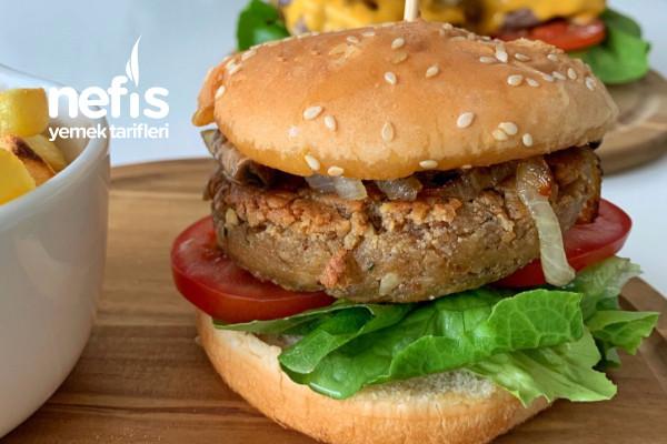 Vejetaryan Burger (Nohut Ve Soja Peyniri İle) Tarifi