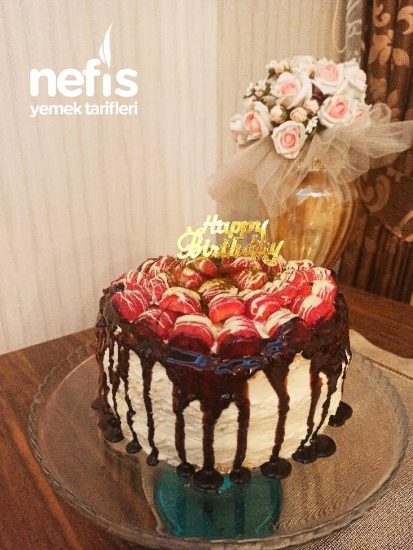 Doğum Günü Pastası (Katlı Yaş Pasta- Pandispanya Keki)