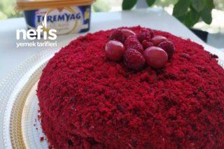 Frambuazlı Red Velvet Cake(Teremyağlı) Tarifi