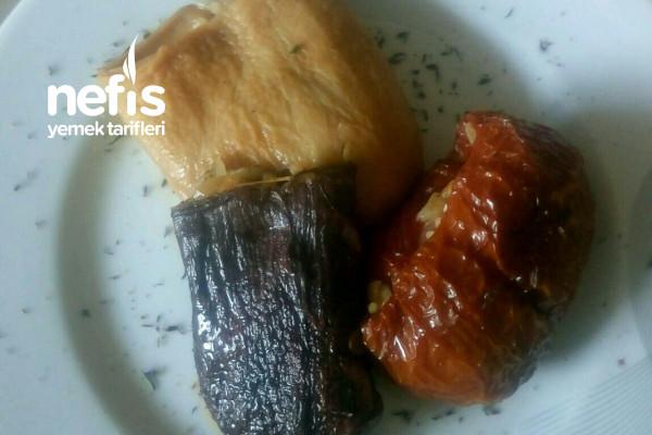 Kuru Patlıcan Biber Kabak Dolması (Tam Kıvam Tam Malzeme) Tarifi