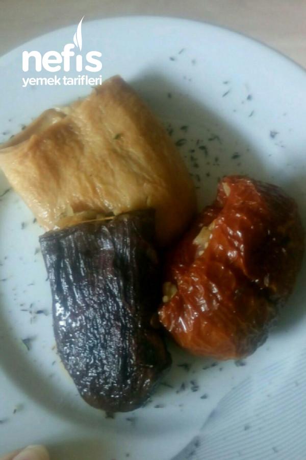Kuru Patlıcan-biber-kabak Dolması (Tam Kıvam-tam Malzeme)