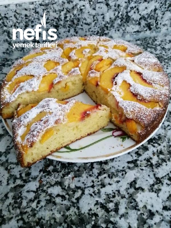 Teremyağlı Harika Bir Şeftali Keki
