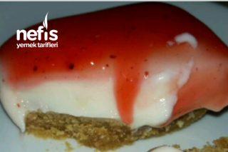 Fırında Pişmeyen Pratik Cheesecake (Videolu) Tarifi