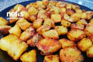 Önce Haşla Sonra Fırınla Dışı Kıtır İçi Yumuşacık Harika Patates Tarifi (Videolu)