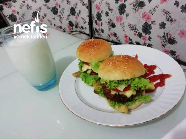 En Lezzetlisinden Ev Yapımı Hamburger(doğal Lezzet)