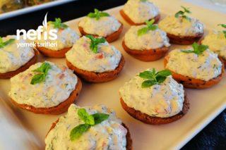 Çıtır Kasede Labneli Köz Patlıcan Salatası Tarifi