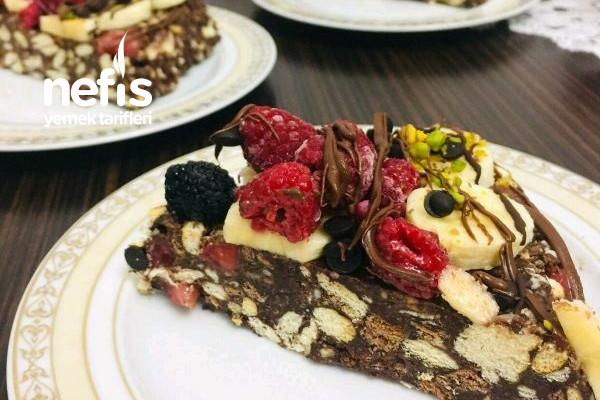 Teremyağlı Meyveli Mozaik Pasta (Nefis) Tarifi