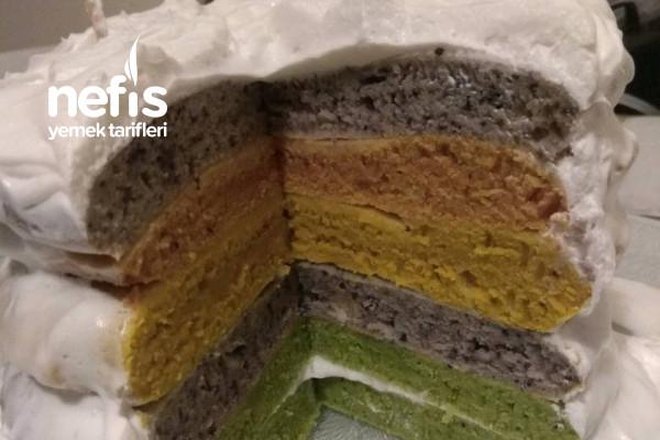 Gıda Boyasız Gökkuşağı Pastası Tarifi
