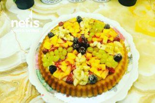 Teremyağlı Bol Meyveli Tart Pasta Tarifi