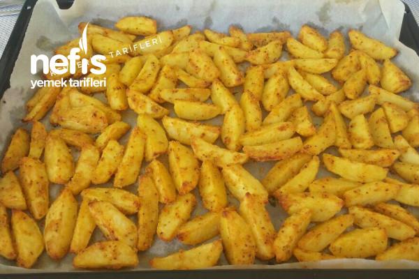 Fırında Mısır Unlu Nefis Patates Tarifi