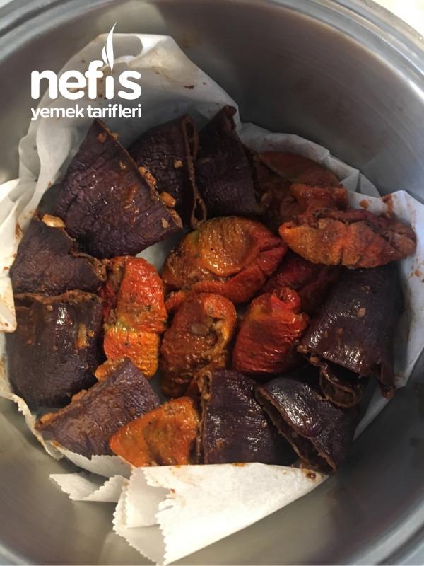 Kuru Patlıcan Biber Dolması