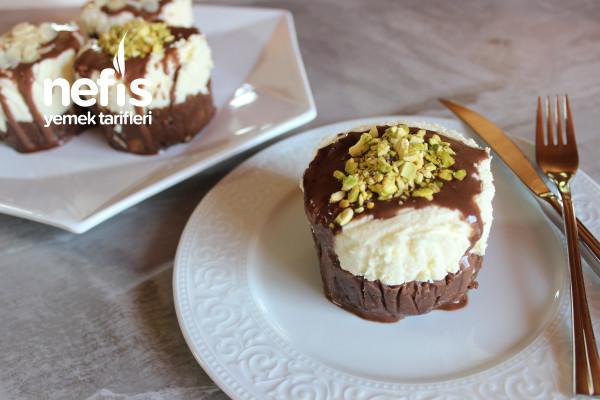Bisküvili Cocostar Pasta (Porsiyonluk, Videolu)